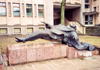 Lithuania - Kaunas / KUN : levitation - statue in Nepriklausomybes Aikste - photo by M.Torres