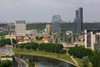 Lithuania - Vilnius: the evolving skyline - river and skyscrappers - business district - photo by A.Dnieprowsky