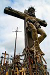 Siauliai, Lithuania: Hill of Crosses - Crucifixion - photo by J.Pemberton