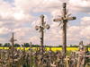 Lithuania / Litva - Siauliai / Schaulen / Shavli: Hill of crosses - Kryziu Kalnas - crosses and the fields - Creu, Kreuz, croce, kruis, Risti, kors - photo by J.Kaman