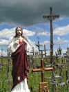 Lithuania / Litva - Siauliai: Hill of crosses - Kryziu Kalnas - Christ's sacred heart - photo by J.Kaman