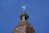 Lithuania - Vilnius: Church of St. Theresa - angel on roof-top / Sventos Tereses baznycia - photo by A.Dnieprowsky