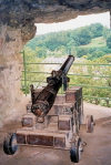 Luxembourg Ville: artillery at the Bock Casemates (photo by M.Torres)
