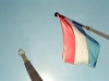 Luxembourg Ville / Stadt: the obelisk an the flag - Place de la Constitution (photo by M.Bergsma)