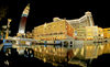 Macao / Macau: Venetian Macao casino and hotel - reflection - fish-eye view of the world's largest casino - Cotai Strip - photo by B.Henry