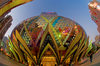 Macao / Macau: Grand Lisboa casino and Lisboa hotel casino - giant bulb - lobby - Dennis Lau & Ng Chun Man Architects & Engineers - photo by B.Henry