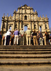 Macao, China - tourists at the ruins of Sao Paulo Cathedral - Unesco world heritage - Historic Centre of Macao - turistas nas Ruinas de São Paulo - photo by B.Henry