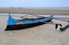 Morondava - Menabe, Toliara province, Madagascar: outrigger on the beach - Nosy Kely peninsula - photo by M.Torres