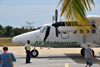 Morondava - Menabe, Toliara province, Madagascar: airport - passengers board Air Madagascar de Havilland DHC-6 Twin Otter 5R-MGD - photo by M.Torres