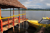 Soanierana Ivongo, Analanjirofo, Toamasina Province, Madagascar: riverine harbour - pier for ferries to Ile Sainte Marie - photo by M.Torres