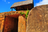 Ambohimanga Rova, Antananarivo-Avaradrano, Analamanga region, Antananarivo province, Madagascar: Royal Hill of Ambohimanga - Ambatamitsangana gate - the 10 ton stone disc used as door was once moved by 40 slaves - royal city and burial site - UNESCO world heritage site - photo by M.Torres