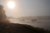Bekopaka, Antsalova district, Melaky region, Mahajanga province, Madagascar: morning mist - sun rises over the Manambolo River - photo by M.Torres