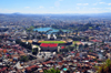 Antananarivo / Tananarive / Tana - Analamanga region, Madagascar: view from the Haute Ville - Anosy Lake, Mahamasina Stadium and palace of culture and sports - horizon - photo by M.Torres
