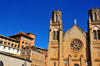 Antananarivo / Tananarive / Tana - Analamanga region, Madagascar: Andohalo cathedral, Maison Labord and the former lyc�e Galli�ni - photo by M.Torres