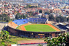Antananarivo / Tananarive / Tana - Analamanga region, Madagascar: municipal stadium and the medicine school - view from the Haute Ville - Stade Municipal de Mahamasina - Ecole de M�decine de Befelatanana - photo by M.Torres