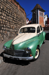 Antananarivo / Tananarive / Tana - Analamanga region, Madagascar: Peugeot 203 in the Haute Ville - vintage car - photo by M.Torres