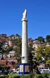 Antananarivo / Tananarive / Tana - Analamanga region, Madagascar: Place du MDRM - Malagasy uprising of March 29th, 1947 - pillar replacing the statue of general Galli�ni - Ambohijatovo - photo by M.Torres