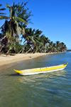 Vohilava, �le Sainte Marie / Nosy Boraha, Analanjirofo region, Toamasina province, Madagascar: traditional canoes and tropical beach on the sheltered east coast of the island - photo by M.Torres