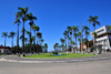 Toamasina / Tamatave, Madagascar: the palm lined Independence avenue, formerly Poincar� avenue, built after the 1927 hurricane - Araben'ny Fahaleovantena blvd - photo by M.Torres