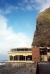 Madeira - Sao Vicente:  restaurant under the cliff / restaurante sob a falésia - photo by M.Durruti