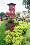Malaysia - Malacca / Melaka: Tan Beng Swee clock tower - Dutch square (photo by J.Kaman)