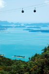 Mount Mat Chinchang cable car - islands and the Andaman Sea, Langkawi, Malaysia. photo by B.Lendrum