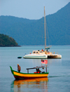 fishingboat and catamaran, Langkawi, Malaysia. photo by B.Lendrum