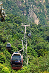 Mount Mat Chinchang cable car - pods, Langkawi, Malaysia. photo by B.Lendrum