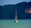 yacht and forest, Langkawi, Malaysia. photo by B.Lendrum