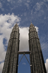 Kuala Lumpur, Malaysia: Petronas Towers from below - tallest twin buildings in the world - photo by J.Pemberton