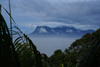 Bako National Park, Sarawak, Borneo, Malaysia: Gunung Santubong in the mist - view from Bukit Tambi - photo by A.Ferrari