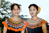 Malaysia - Sarawak Cultural Village - Borneo: Women in traditional Iban (Dayak / Dajak) costume (photo by Rod Eime)