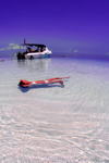 Pulau Mabul, Sabah, Borneo, Malaysia: girl in white bikini floating in clear water - photo by S.Egeberg