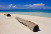 Sipadan Island, Sabah, Borneo, Malaysia: old wooden logs on the beach in Sipadan - photo by S.Egeberg