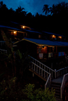Perhentian Island, Terengganu, Malaysia: resort at night - photo by P.Jolivet