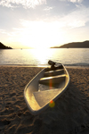 Malaysia - Pulau Perhentian / Perhentian Island: boat on a deserted beach (photo by Jez Tryner)