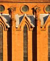 Blantyre, Malawi: St Michael and All Angels Church - north side windows - bricks laid in English bond - photo by M.Torres