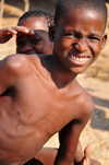 Cape Maclear / Chembe, Malawi: Yao boys on the beach - young fishermen - Nankumba Peninsula - photo by M.Torres