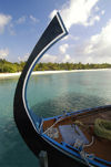 Maldives Dhoni bow, Four Seasons resort, Kuda Huraa (photo by B.Cain)