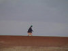 Mali - River Niger: a lone walker on the sandy banks - photo by A.Slobodianik