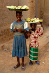 Djenn�, Mopti Region, Mali: girls selling sweetcorn - photo by J.Pemberton