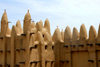 Djenné cercle, Mopti Region, Mali: walls of a mud brick Mosque in a village outside Djenne - built with of sun-baked mud bricks called 'ferey' a mud based mortar - photo by J.Pemberton