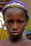 Djenn� cercle, Mopti Region, Mali: girl with tribal scarification near Djenne - photo by J.Pemberton