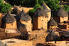 Bandiagara Escarpment, Dogon country, Mopti region, Mali: Songo village - Dogon granaries with fake windows to look like miniature buildings - photo by J.Pemberton