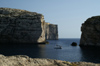 Malta - Gozo: Dwejra bay - yacht (photo by  A.Ferrari )