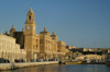 Malta: Vittoriosa - Maritime museum,  former Naval Bakery - designed by the British architect and engineer William Scamp - dome of Church of St Lawrence church in the background - photo by A.Ferrari