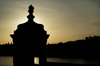 Malta: Vittoriosa - Fort St Angelo at sunset - guerite silhouette (photo by A.Ferrari)