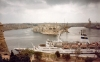 Malta: Grand Harbour on a gloomy day - Vittoriosa, Senglea and Kalkara from Valletta (photo by M.Torres)