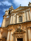 Malta: Malta: Mdina - church fa�ade (photo by ve*)