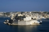 Malta: Vittoriosa / Birgu, Fort St Angelo - seen from La Valletta across the Grand Harbour (photo by A.Ferrari)